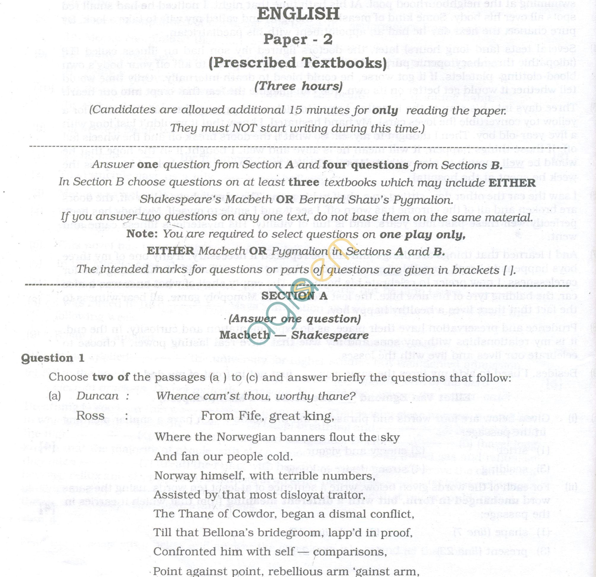 question papers for class english paper  isc question papers 2013 for class 12 english paper 2