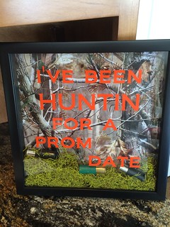 Been Huntin for a Prom Date shadowbox invite made with my Silhouette Cameo (vinyl)