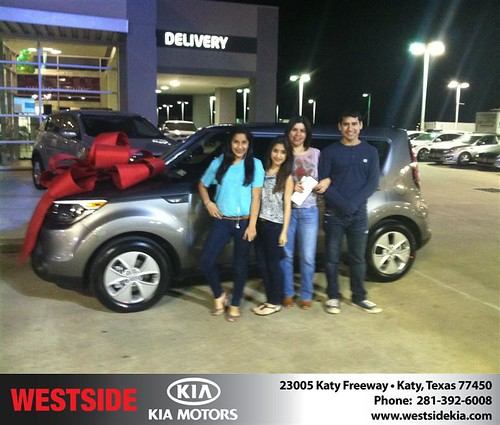 Thank you to Zaira Duarte on your new 2014 #Kia #Soul from Ricardo  Navarro and everyone at Westside Kia! by Westside KIA