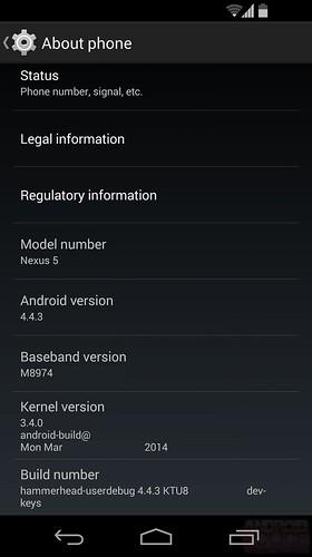 Android 4.4.3 для Nexus 5