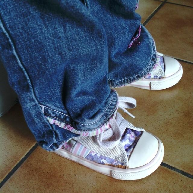néné se la pète avec ses nouvelles @converse #converse #shoes #shopping #baby #ourlittlefamily #france