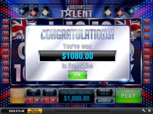 Britains Got Talent Slot Machine Online ᐈ Playtech™ Casino Slots