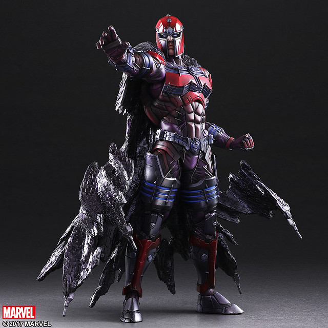 PLAY ARTS改 MARVEL COMICS 變體版【萬磁王】MARVEL UNIVERSE VARIANT PLAY ARTS -KAI- MAGNETO,威壓登場!!!