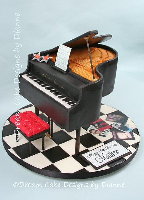 Grand Piano Cake from Dream Cake Designs by Dianne