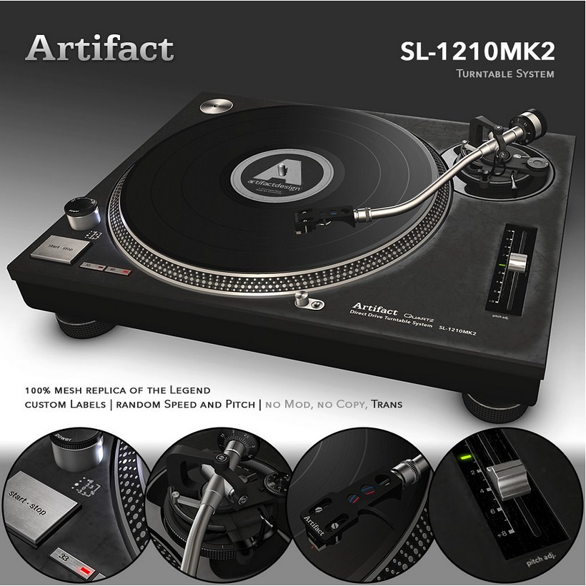 Artifact SL-1210MK2 Turntable System - SecondLifeHub.com