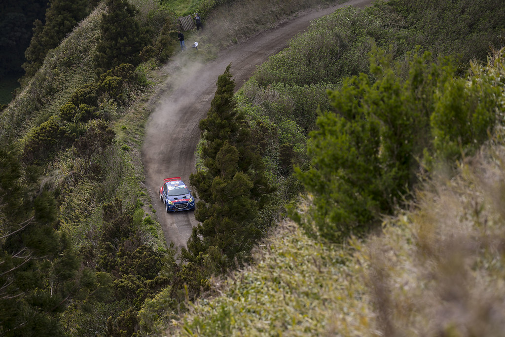 05 SUAREZ Jose Antonio ESTEVEZ Candido  Peugeot 208 T16 Action during the 2017 European Rally Championship ERC Azores rally,  from March 30  to April 1, at Ponta Delgada Portugal - Photo Gregory Lenormand / DPPI