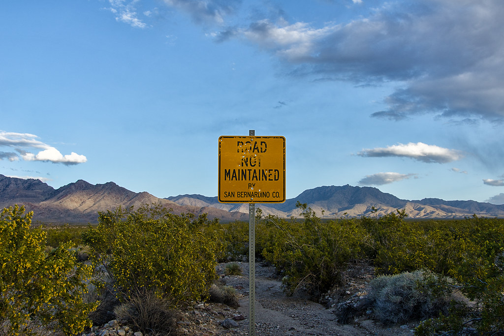 road not maintained  mojave desert, ca  2013  | out in the f