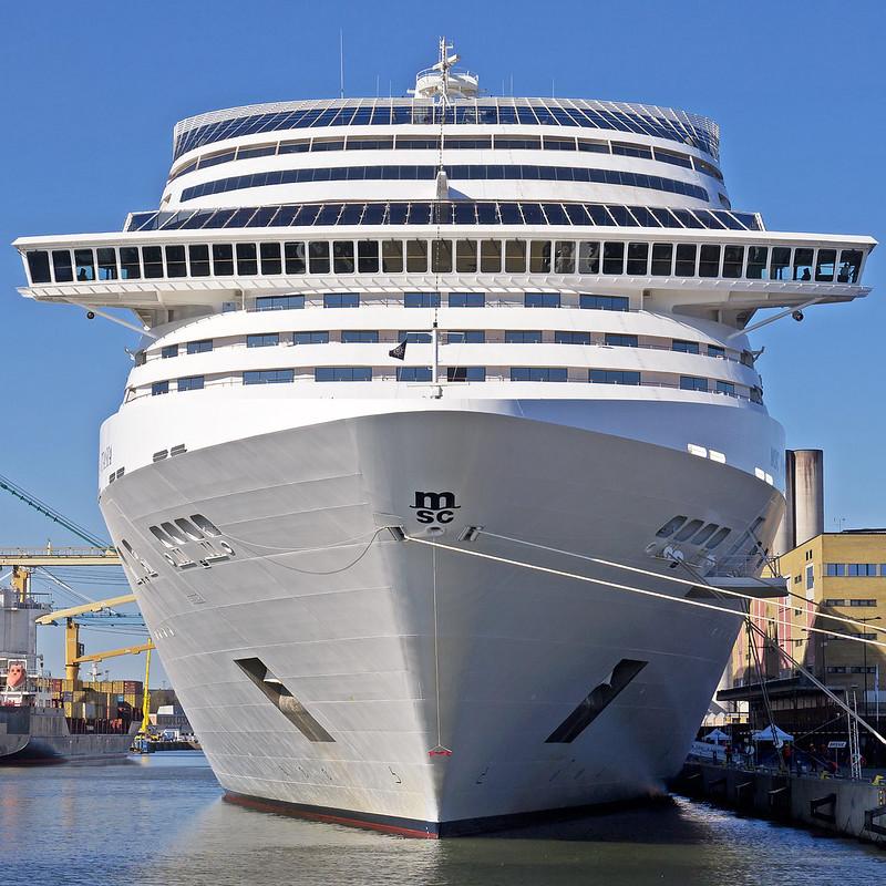 MSC Fantasia in Frihamnen port Stockholm