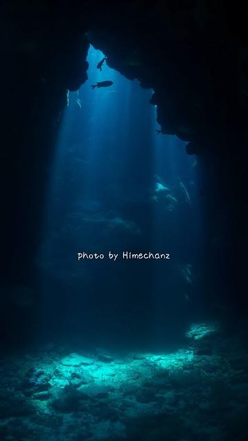 洞窟の光がめちゃくちゃキレイでした!!!