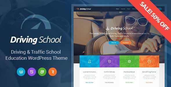 Driving School WordPress Theme free download