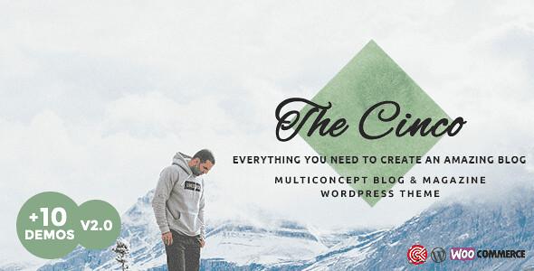 Cinco WordPress Theme free download
