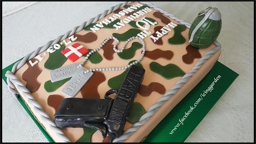Army Birthday Cake / Birthday Cake / 10 the Birthday Cake / Fondant Icing Cake