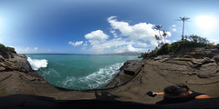 China Wall at Koko Kai Beach in Portlock n East Honolulu, Oahu, Hawaii - a 360° Equirectangular VR