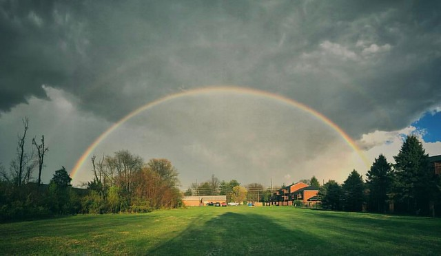 Double Rainbow #spring #indianaskies #skies #rainbows #doublerainbow #atmosphericoptics #bloomington