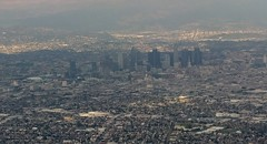 Los Angeles Downtown from Plane