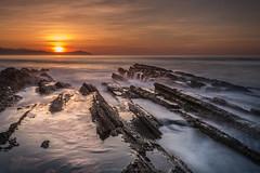 Sunset in Algorri Flysch