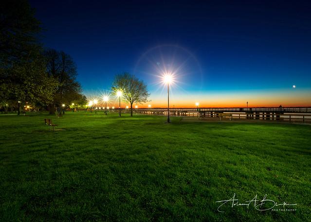 Bishop Park Sunday Sunrise Starburst w PHOTOLOGO