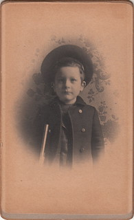 Portrait of a boy with wallpaper background (February 1903)