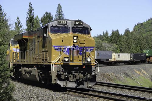 Westbound UPS train