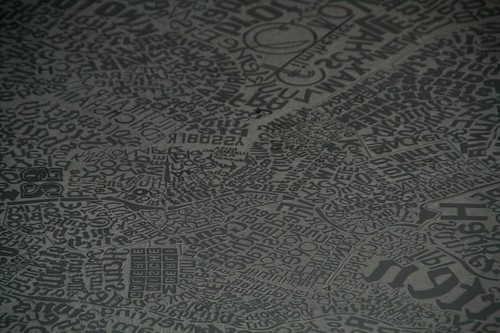 Berlin Linocut Map - 1.7 Meters X 3.4 Meters
