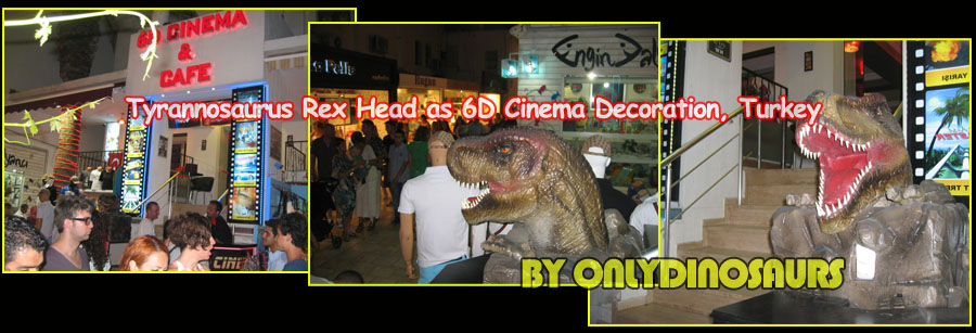 Animatronic Tyrannosaurus Rex Head as cinema decoration