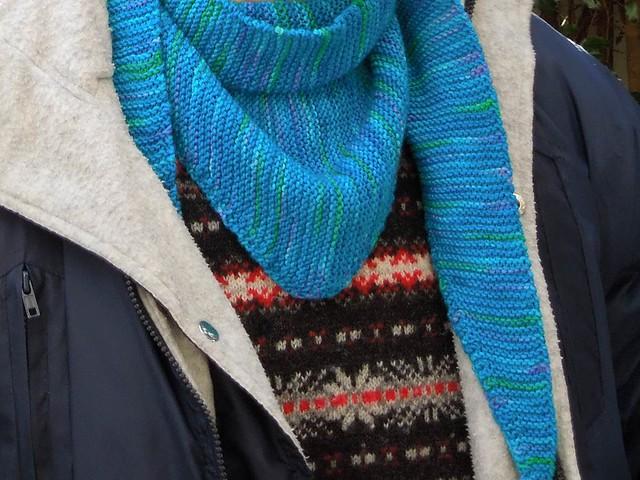 Turquoise Baktus scarf