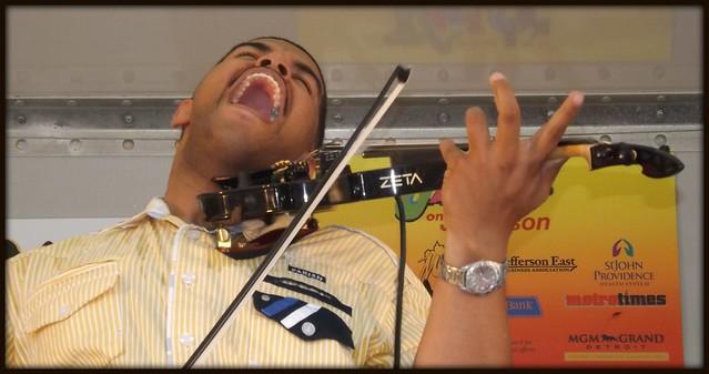 Violinist: Jazzin' on Jefferson #1--Detroit MI