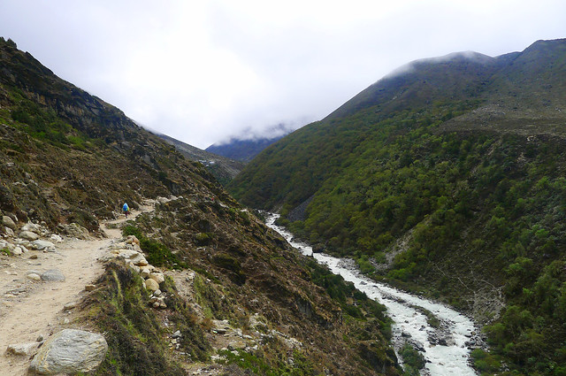 Everest Base Camp: the trail from Pangboche to Dingboche