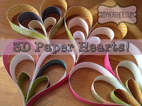 colorful paper hearts by Heather Says