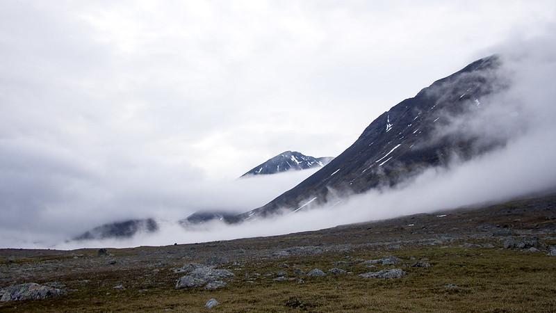 Tief hängende Wolken