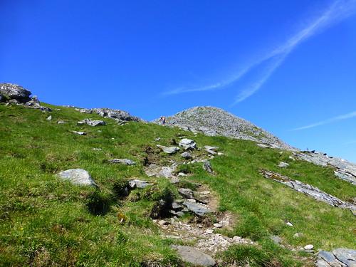 Graham climbing Sgurr na Carnach