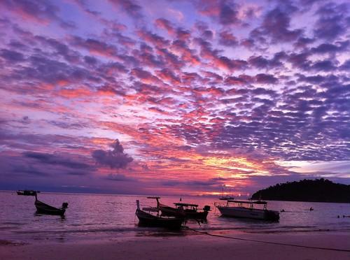 sunset thailand hdr