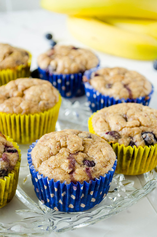 Blueberry Banana Muffins (Refined Sugar Free)