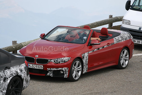 BMW 4 Series convertible Spy Pictures