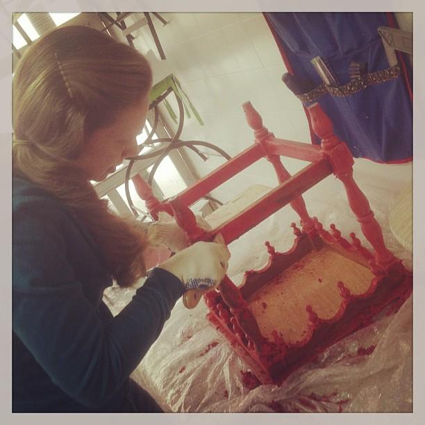 Aluna nova!!! Adoroooooo!!! #pintura #movel #customização #artesanato #curso #alemdarua