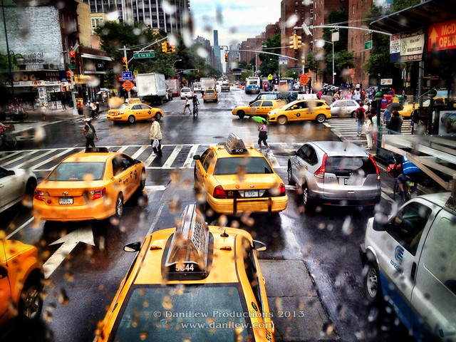 iPhone - NYC taxis and traffic - taken with an Apple iPhone 4S