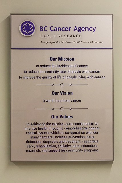 BC Cancer Agency: Mission, Vision, Values