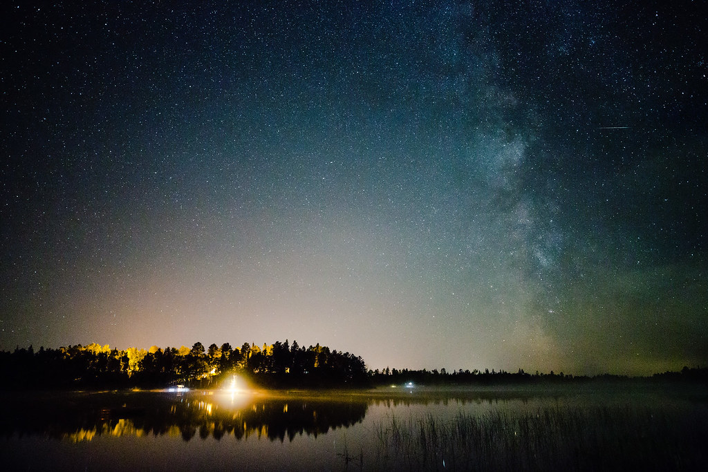 best photo of minnpics august 2013 starry sky over northern minnesota lake