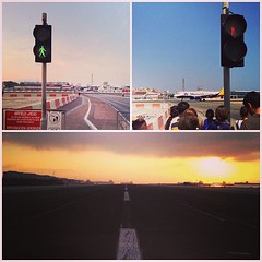 So to get to Gibraltar you have to cross a runway.... #airport #spain #gibraltar #therock #plane
