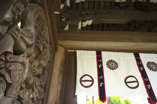 Fujin (wind god) of Minami-somon gate @ Matsuo-dera temple.