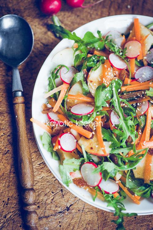 Apple Radish Carrot Salad Kayotic Kitchen