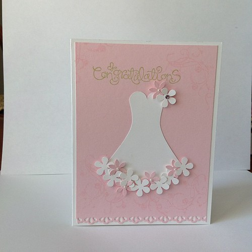 Bridal shower card #stampinup