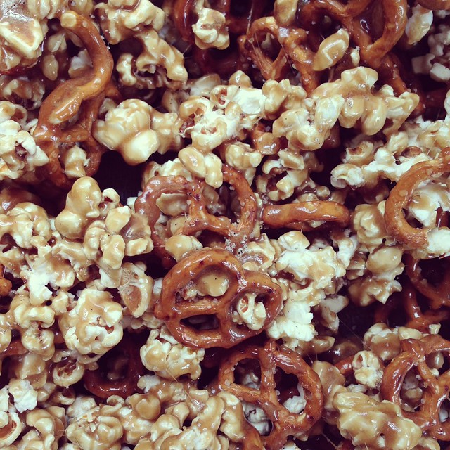 Baking A Difference with Salty Pretzel Vanilla Caramel Corn