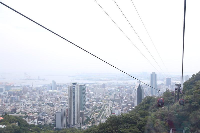 布引ハーブ園ロープウェー神戸市内の景色