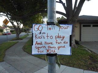 A sign in my neighborhood