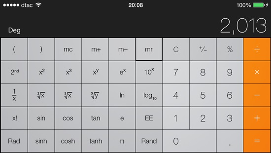 iOS 7 Calculator