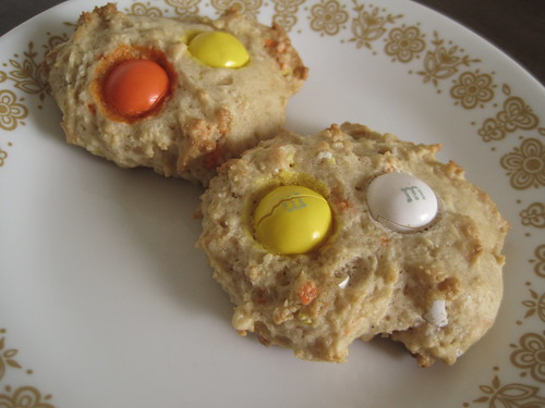 Candy Corn M&M Cookies