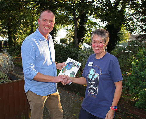 Presented the Kent Wildlife Trust Gold Award for Wildlife Gardens by Maureen Rainey from the Kent Wildlife Trust by Kinzler Pegwell