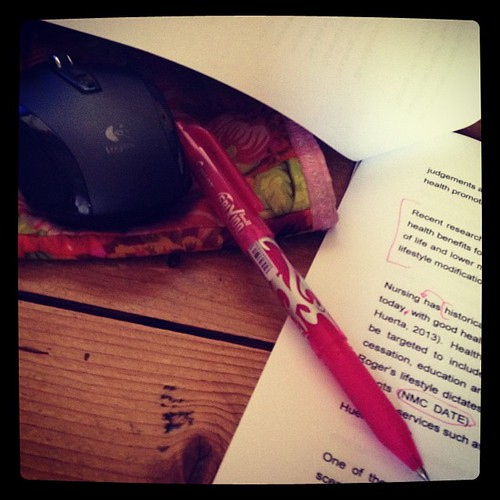 Essay editing. More fun with a pink pen.