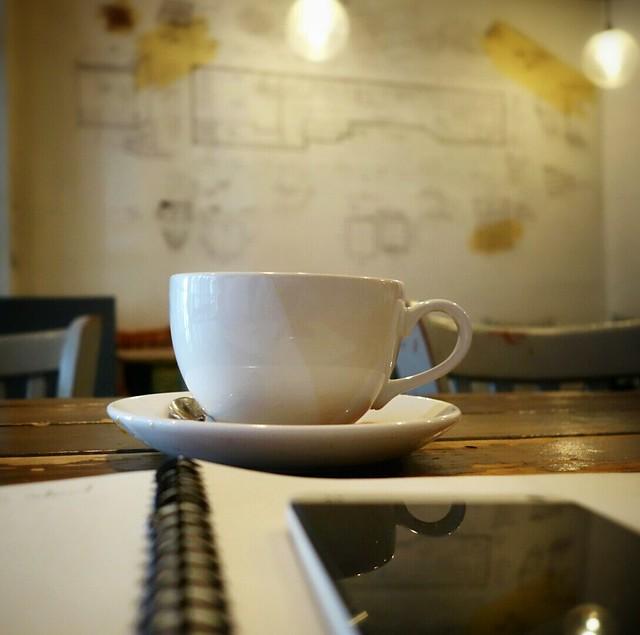Coffee + MUJI + Mobile = good brain warm-up #walkingtoworktoday